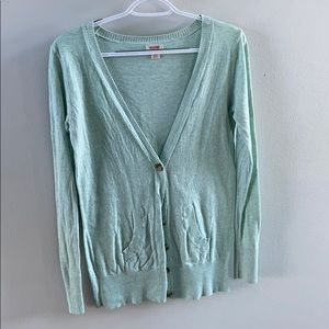 Teal button down Mossimo cardigan